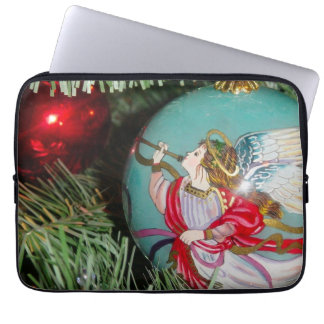 Christmas angel - christmas art -angel decorations computer sleeve