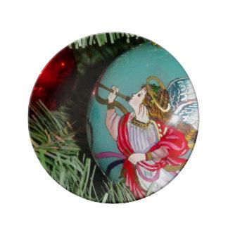 Christmas angel - christmas art -angel decorations dinner plate