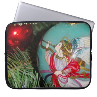 Christmas angel - christmas art -angel decorations laptop sleeve