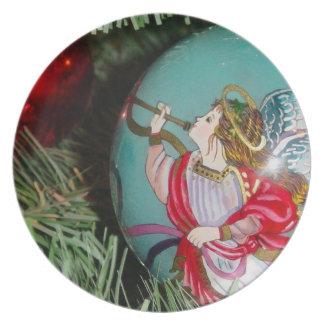 Christmas angel - christmas art -angel decorations melamine plate