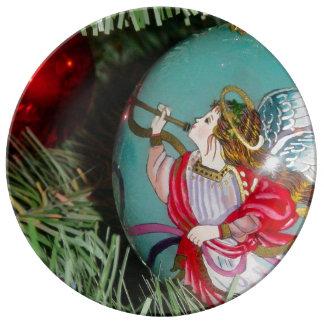 Christmas angel - christmas art -angel decorations plate