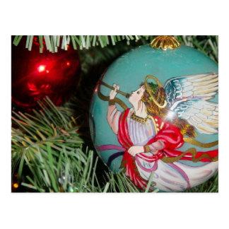 Christmas angel - christmas art -angel decorations postcard