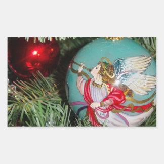 Christmas angel - christmas art -angel decorations rectangular sticker