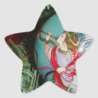 Christmas angel - christmas art -angel decorations star sticker