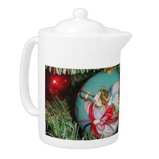 Christmas angel - christmas art -angel decorations teapot