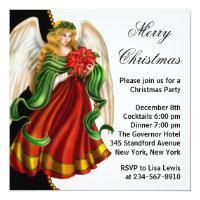 Christmas Angel Christmas Party Card