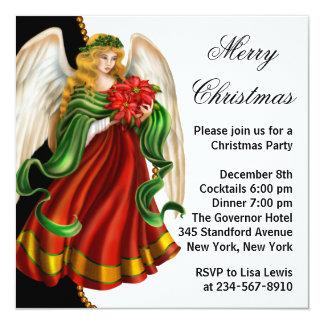 Christmas Angel Christmas Party Card