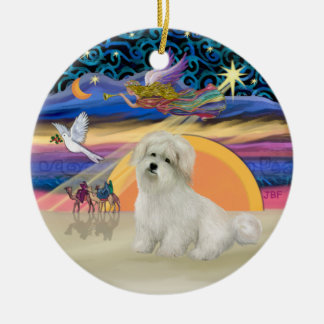 Christmas Angel- Coton de Tulear Ceramic Ornament