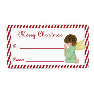 Christmas Angel D13 :: Merry Christmas Gift Labels