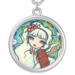 Christmas Angel Fantasy Fairy Art Hannah Lynn Personalized Necklace
