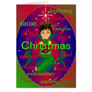 """""""Christmas Angel From Around The World I"""" Card Card"""