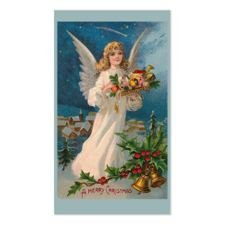"""Christmas Angel"" Gift Tag Double-Sided Standard Business Cards (Pack Of 100)"