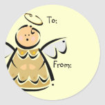 Christmas Angel Gift Tags Stickers