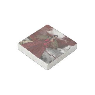 Christmas Angel Stone Magnet