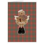 christmas angel gingerbread man card