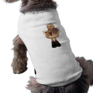 christmas angel gingerbread man dog t shirt