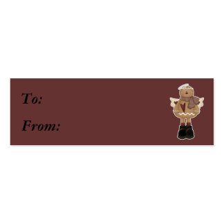 christmas angel gingerbread man Double-Sided mini business cards (Pack of 20)