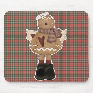 christmas angel gingerbread man mouse pad