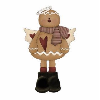 christmas angel gingerbread man standing photo sculpture