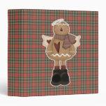 christmas angel gingerbread man vinyl binders