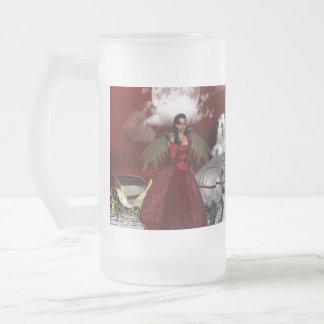 Christmas Angel Glass Beer Mugs