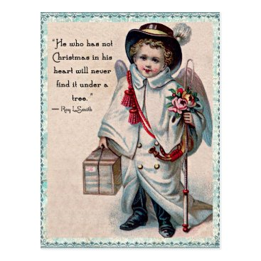 Valentines Themed Christmas Angel Heart Postcard