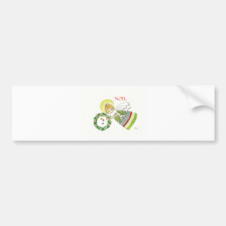 Christmas Angel Holly Bumper Stickers