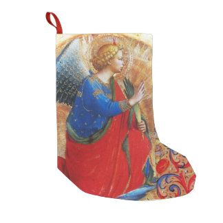 CHRISTMAS ANGEL IN RED,GOLD, BLUE SMALL CHRISTMAS STOCKING