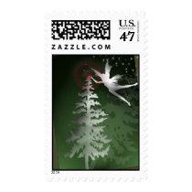 Christmas Angel lighting the tree stamp