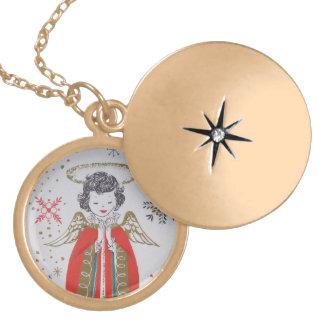 Christmas Angel Locket Necklace