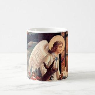Christmas Angel looking through a window Coffee Mug