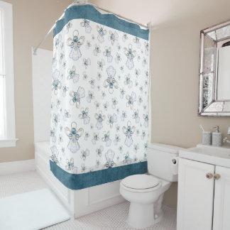 Blue Christmas Shower Curtains