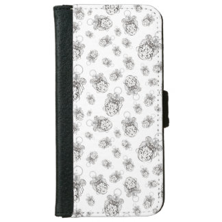 Christmas Angel of Faith Holiday Collage Pattern iPhone 6 Wallet Case