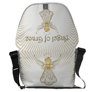 Christmas Angel of Grace Sun Rays Messenger Bag