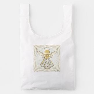 Christmas Angel of Grace Sun Rays Reusable Bag