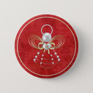 Christmas Angel of Joy - Red Button