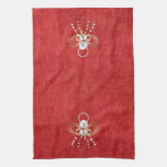 Christmas Angel of Joy - Red Kitchen Towels