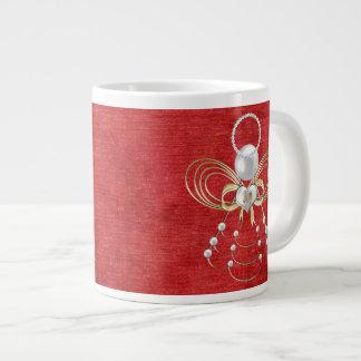 Christmas Angel of Joy - Red Large Coffee Mug