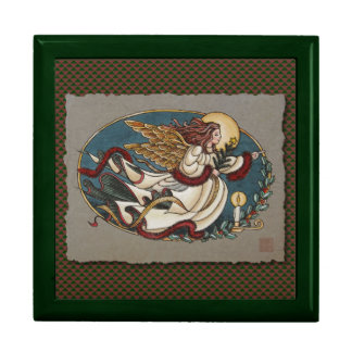 Christmas Angel Of Light Jewelry Boxes