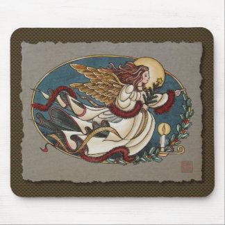 Christmas Angel Of Light Mouse Pad