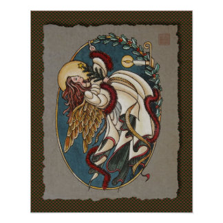 Christmas Angel Of Light Poster