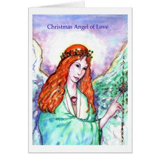 Christmas Angel of Love Greeting Card