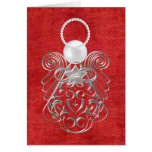 Christmas Angel of Peace Card - Red