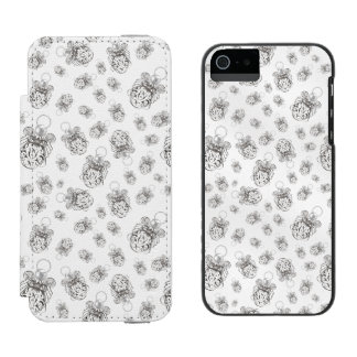 Christmas Angel of Peace Holiday Collage Pattern iPhone SE/5/5s Wallet Case