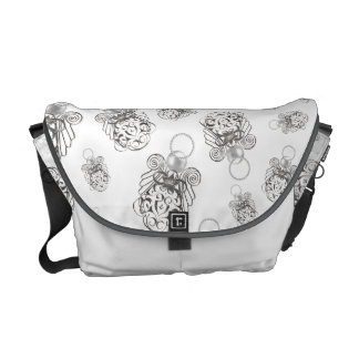 Christmas Angel of Peace Holiday Collage Pattern Messenger Bag