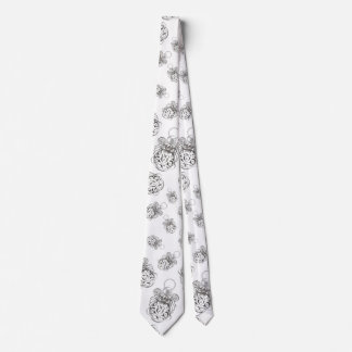 Christmas Angel of Peace Holiday Collage Pattern Tie