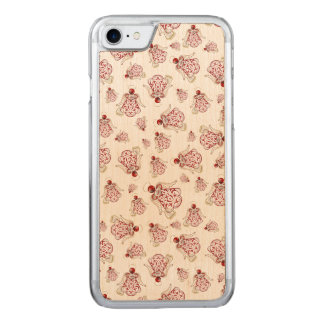 Christmas Angel of Song Holiday Collage Pattern Carved iPhone 7 Case