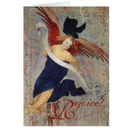 Christmas Angel of the Visitation Rejoice! Card