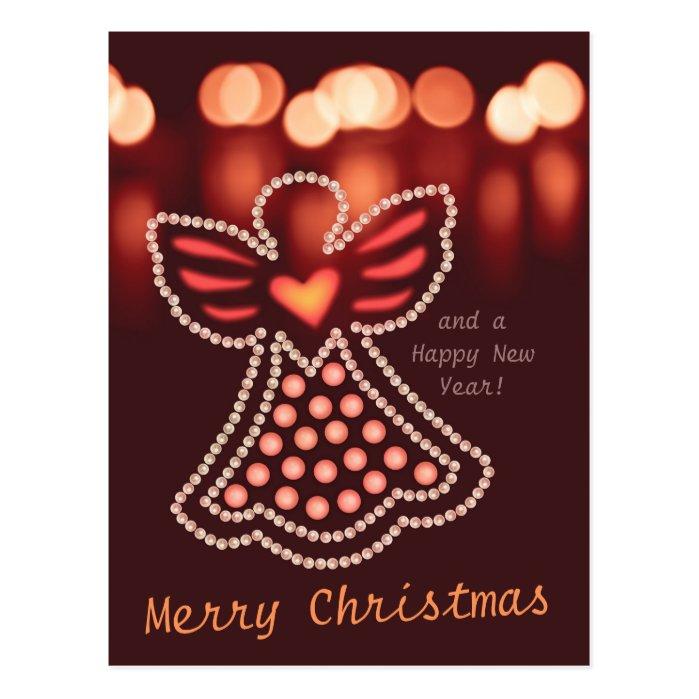 Christmas angel Pearls and candlelight CC0048 Postcard