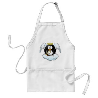 Christmas Angel Penguin Adult Apron